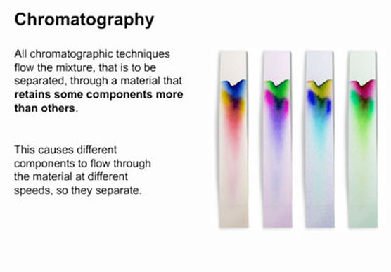 the separation of ink chromatography d
